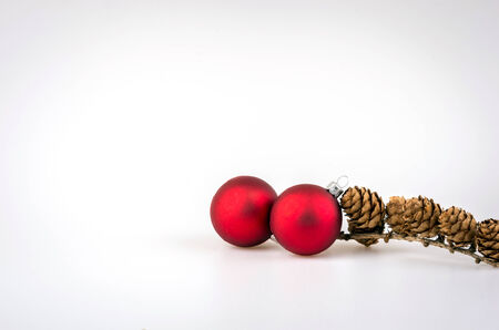 Christmas decorations on a white background. Christmas background. photo