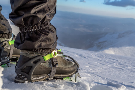 crampons: snow crampons - equipment for extreme excursions to the mountains