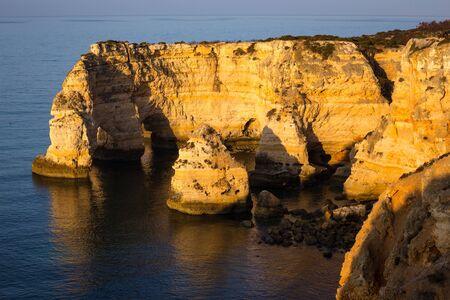 Praia da Mesquita Arco Natural, Algarve, Portugal. One of the many beaches in the Portuguese Algarve