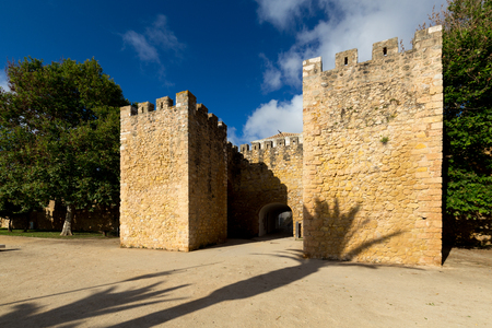 Historical and medieval building in sunny Portugal. Redakční