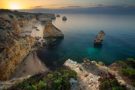 Praia da Marinha, Algarve, Portugal. One of the many beaches in the Portuguese Algarve Stock Photo