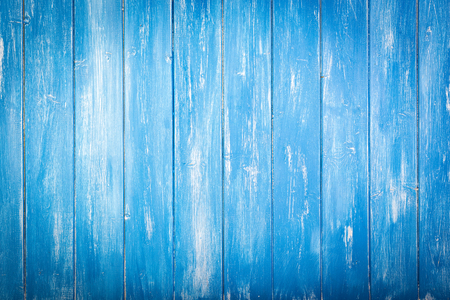 Blue wooden vintage background. Wooden texture from an old table.