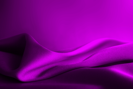 Shiny purple satin curved in various lines Stock Photo