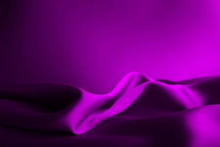 Shiny purple satin curved in various lines Reklamní fotografie