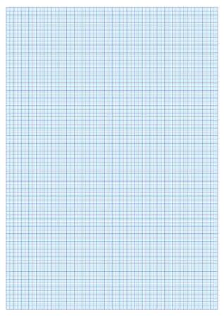 A3 GRAPH papier Standaard voor het afdrukken met cm en 5 mm afscheiders Stock Illustratie