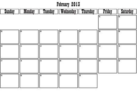 February 2013 planner Stock Vector - 15805085