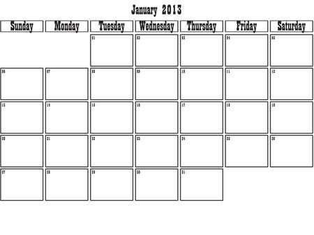 January 2013 planner Stock Vector - 15805094