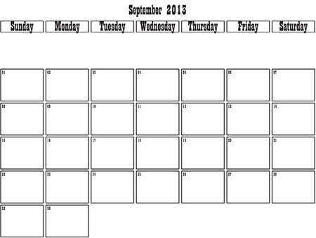 September 2013 planner Stock Vector - 15805095