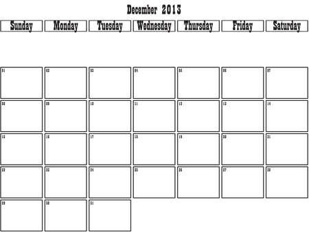 December 2013 planner Stock Vector - 15805098
