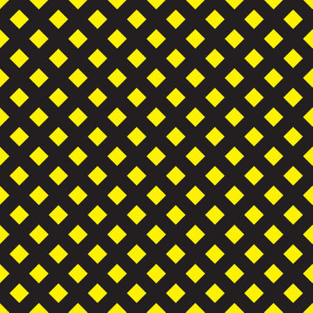 Yellow on Black diamond squares seamless wall Stock Vector - 15994478