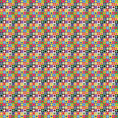 SEAMLESS PLAID OF COLORED SQUARES  Vector