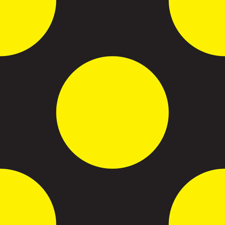 Yellow with black intersection sign Vector