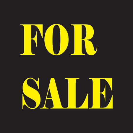 FOR SALE SIGN YELLOW ON BLACK Stock Vector - 16391525