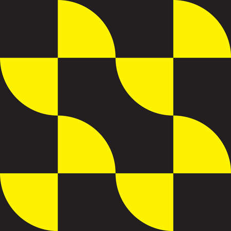 yellow on black decor element arabesque Stock Vector - 16457553
