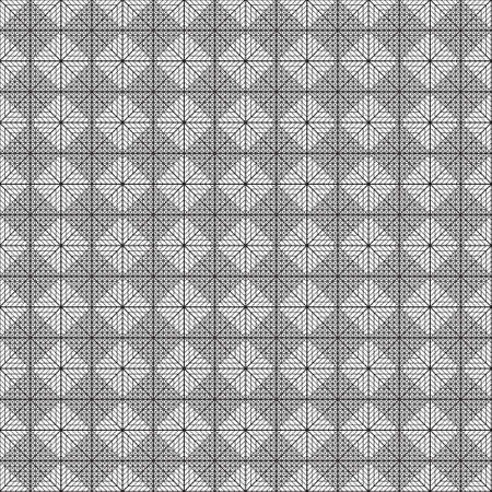Abstract construction element diamond square seamless plaid Vector