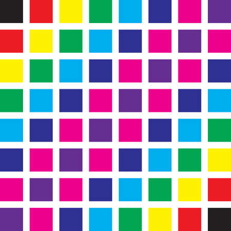 Seamless color swatches tile wall Stock Vector - 17331716