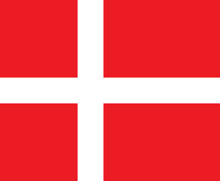 Flag of Denmark, Dannebrog Vector
