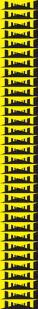 yeloow: Organ pipes effect on black and yeloow Illustration