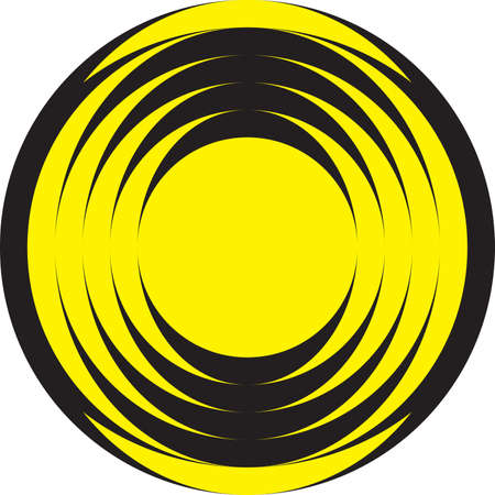 alternate: Hypnotic circles, alternate yellow and black elements
