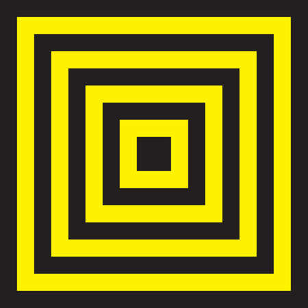 Square target Yellow and Black attention sign Stock Vector - 17961125