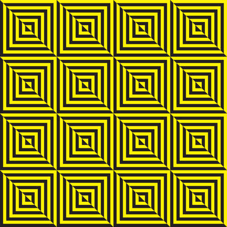 Yellow on black and black on yellow abstract seamless zig zag Stock Vector - 18197640