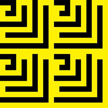 labirinth: yellow on black spyral labirinth background