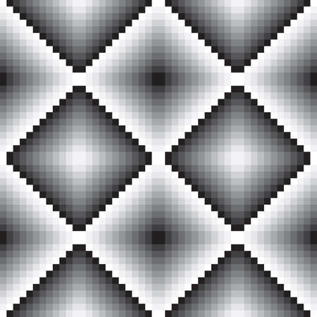 gray scale: Gray scale tile wall seamless alternating lights and shadows Illustration