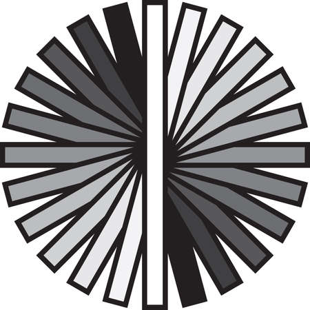Circular fan gray scale with black strokes Stock Vector - 18262790