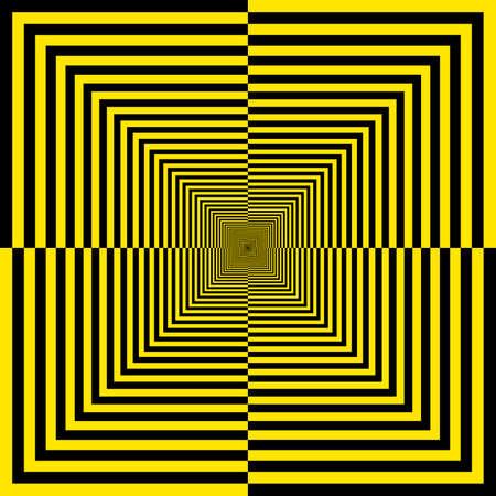 alternating: Negro y amarillo de fondo alterno quartersquares perspectiva