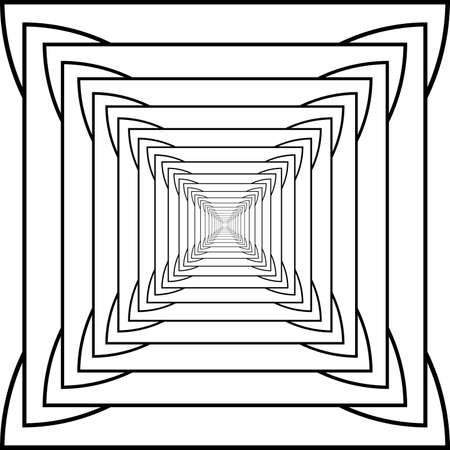 Square into the butterfly incepcion Vector