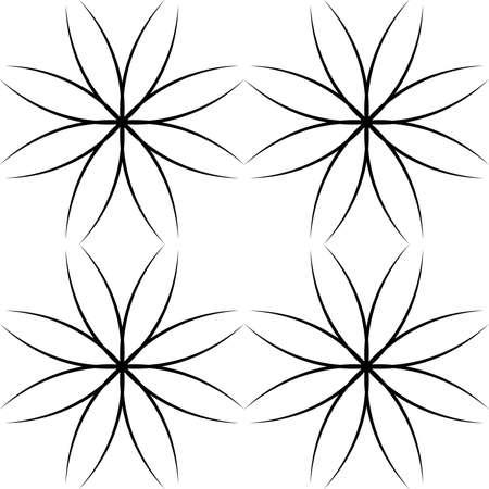abstract cross: Black abstract tipo trasversale elemento arabesco