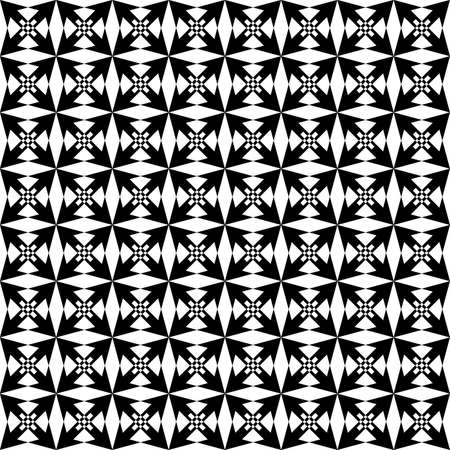 Black triangle based arabesque decor seamless background Stock Vector - 18996672