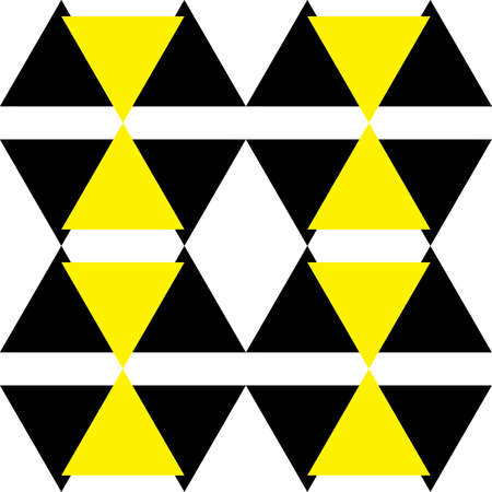 yellow attention: Black and Yellow Attention Hazard sign x4