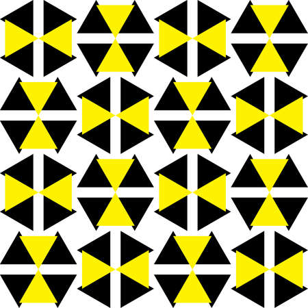 yellow attention: Black and Yellow Attention Hazard sign x16 asimetric