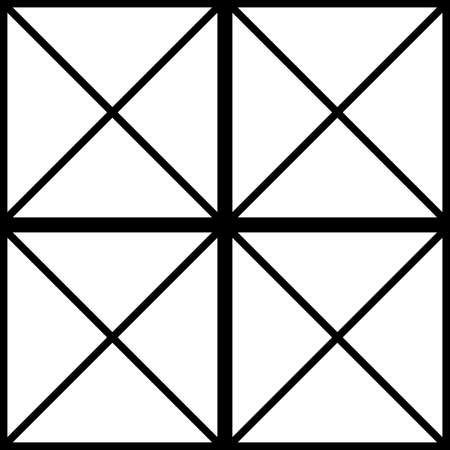 diagonals: Black square with cross diagonals window sugestion