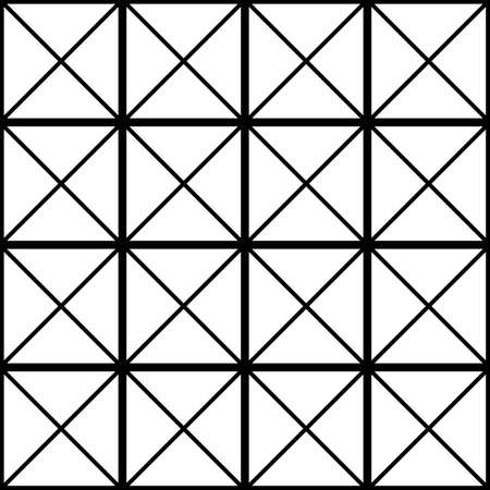 Black square with cross diagonals glass wall sugestion Illustration