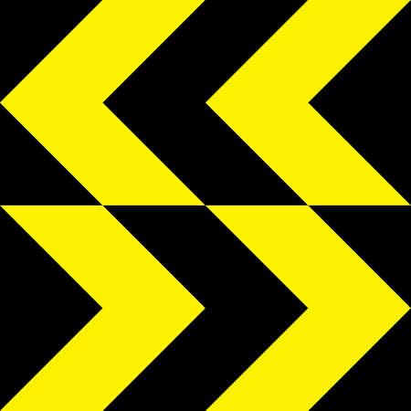 bidirectional: Yellow extreme direction change sign bidirectional Illustration
