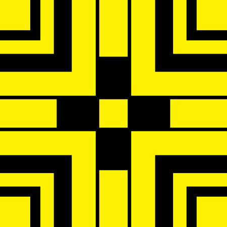 abstract cross: Black and Yellow abstract cross type sign background