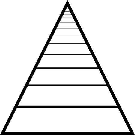 rosnąco: Streszczenie trójkąt tunelu rosnąco perspektywy