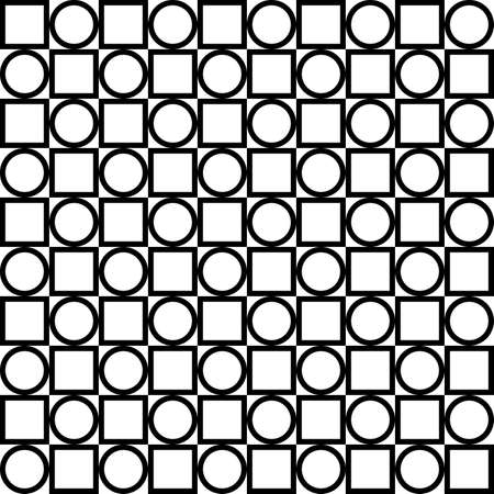 alternating: Circle and square alternating seamless background Illustration