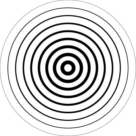 Concentric circles 3D sugestion background