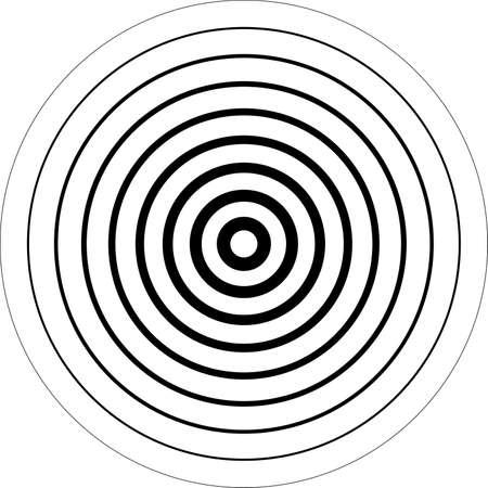 Concentrische cirkels 3D sugestion achtergrond