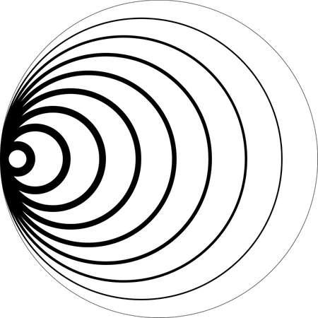 Concentrische cirkels 3D perspectief suggestie achtergrond