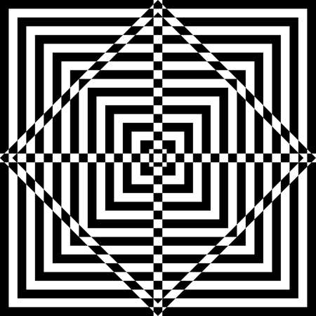 Abstract squares hypnotic target Vector