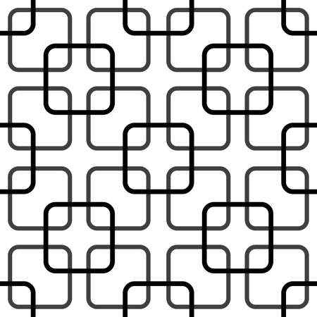 Rounded squares fence complex elements structure Vector