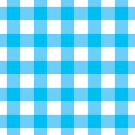 kitchen studio: Blue and white tablecloth Illustration