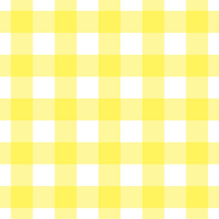 Yellow and white tablecloth Vector