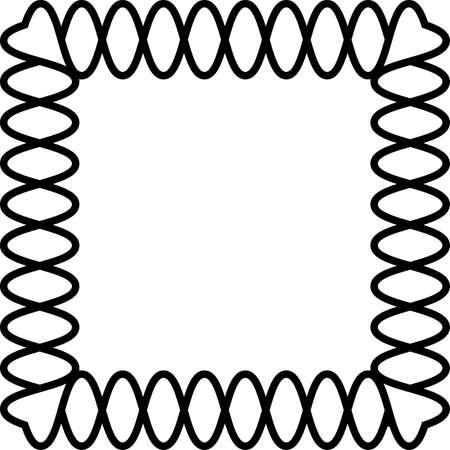 Helycoidal frame van hart cornersbackground Stock Illustratie