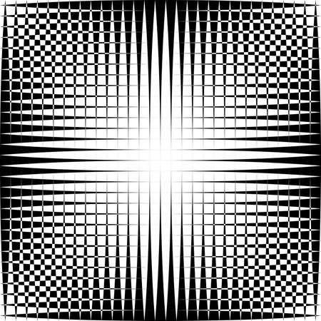 Abstracte zwart op transparante doorsneden vormen trydimensional illusieachtergrond