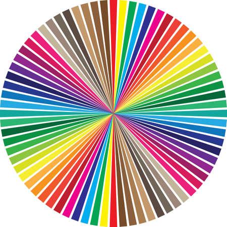 Circular muestras de color pallete Ilustración de vector